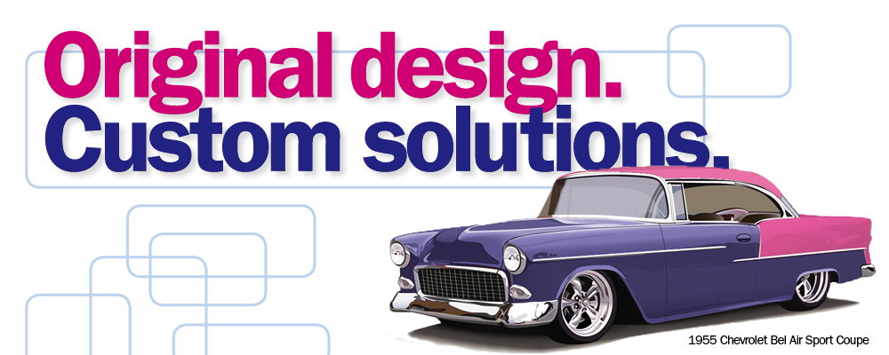 Original design, custom solutions. Customised 1955 Chevy Bel Air
