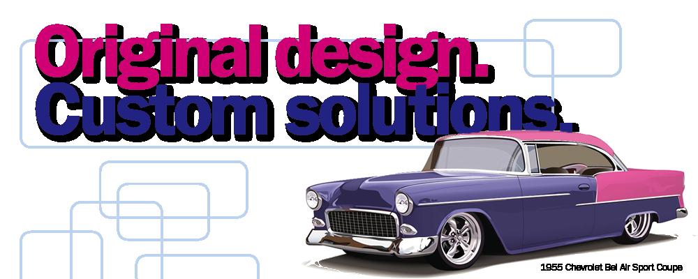 Original design, custom solutions. Customised 1955 Chevy Bel Air