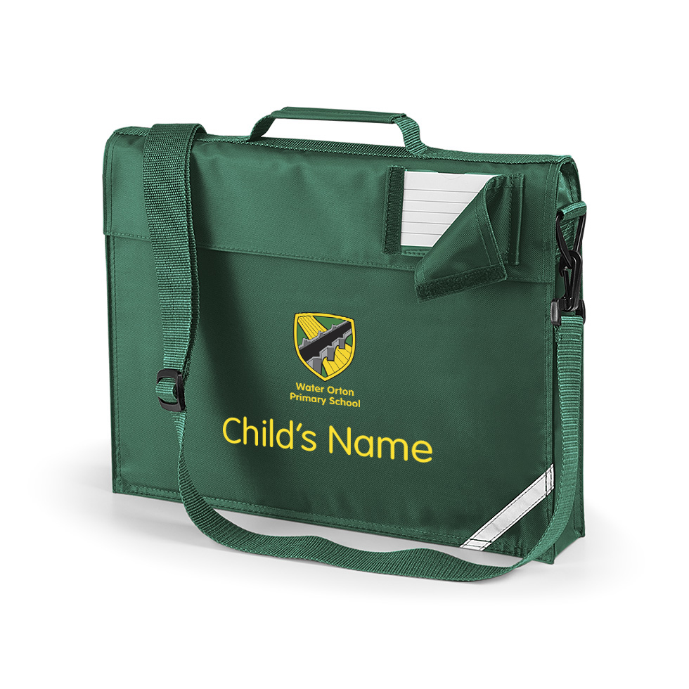 Water Orton Primary School Book Bag with Child's Name